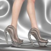 Coleção exobiológica de calçado impresso em 3D inspirado pela natureza e personalização