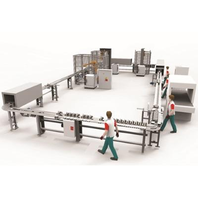 Linha de produção automática robotizada de montagem de calçado